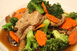 Broccoli delight with beef